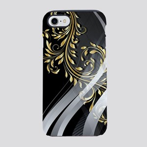 Gold Silver Floral (3G) iPhone 7 Tough Case