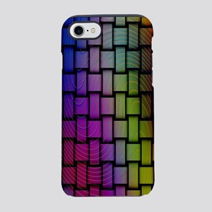 Lattice Fractal Rainbows iPhone 7 Tough Case