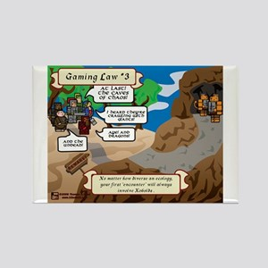 Gaming Law #3 Comic Rectangle Magnet