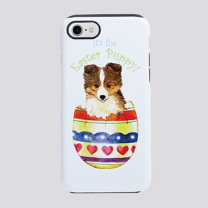 2-sheltie easter-K iPhone 7 Tough Case