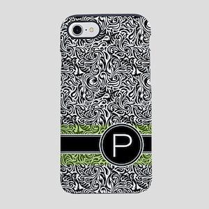 441_damask_monogram_P2 iPhone 7 Tough Case