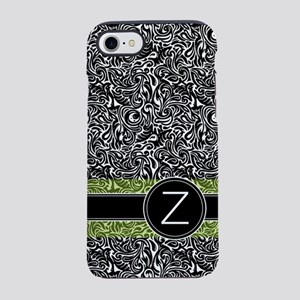 441_damask_monogram_Z2 iPhone 7 Tough Case