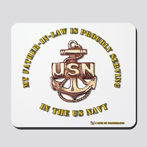 Navy Gold Father in Law Mousepad