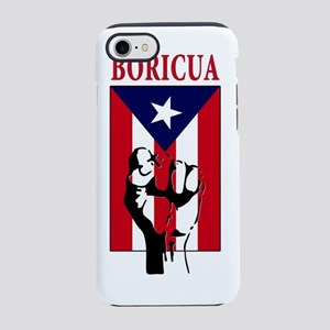 Boricua(blk) iPhone 7 Tough Case