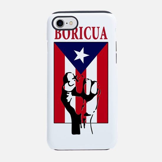 Boricua(blk).png iPhone 7 Tough Case