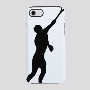 tennis player outline iPhone 7 Tough Case