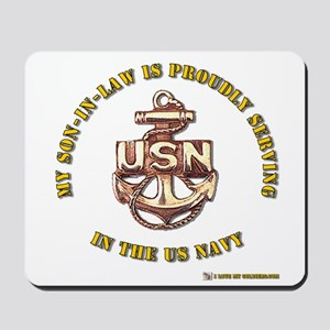 Navy Gold Son in Law Mousepad