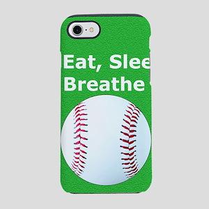 Baseball Eat Sleep Breathe Iph iPhone 7 Tough Case
