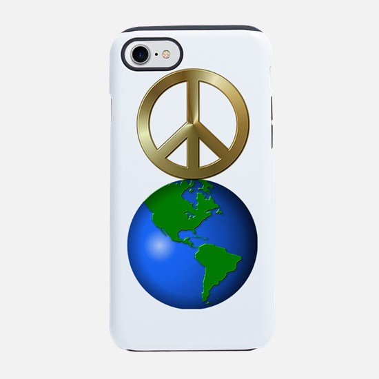 Peace on Earth Rebus Word Puzz iPhone 7 Tough Case