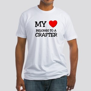 My Heart Belongs To A CRAFTER Fitted T-Shirt