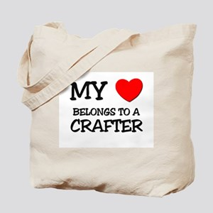 My Heart Belongs To A CRAFTER Tote Bag