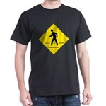 Pedestrian Crosswalk Sign Black T-Shirt