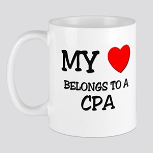 My Heart Belongs To A CPA Mug