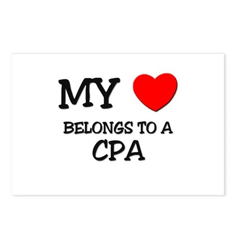 My Heart Belongs To A CPA Postcards (Package of 8)