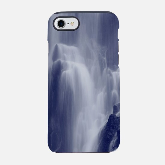 Monochrome waterfall iPhone 7 Tough Case