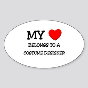 My Heart Belongs To A COSTUME DESIGNER Sticker (Ov