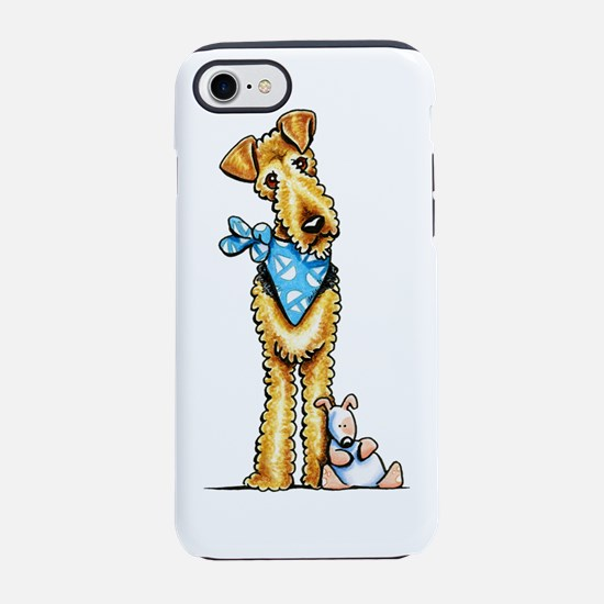 Airedale n Puppy iPhone 7 Tough Case