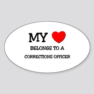 My Heart Belongs To A CORRECTIONS OFFICER Sticker