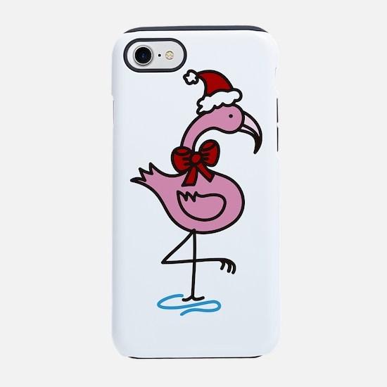 Christmas  Flamingo iPhone 7 Tough Case