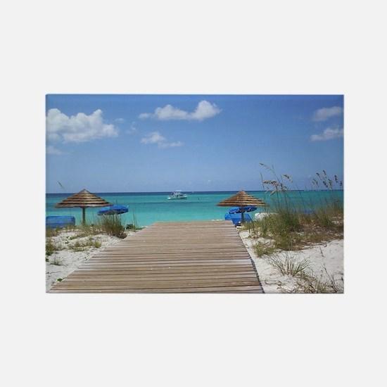 Caribbean boardwalk Rectangle Magnet
