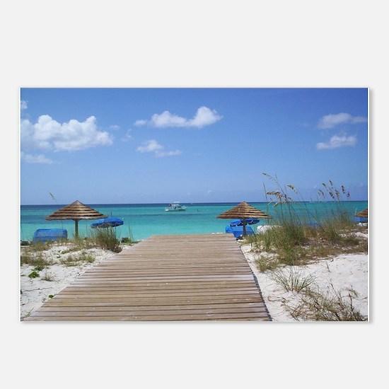 Caribbean boardwalk Postcards (Package of 8)