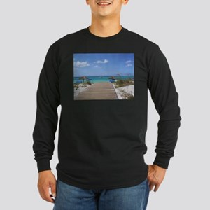 Caribbean boardwalk Long Sleeve Dark T-Shirt