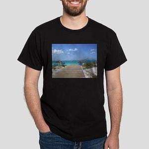 Caribbean boardwalk Dark T-Shirt