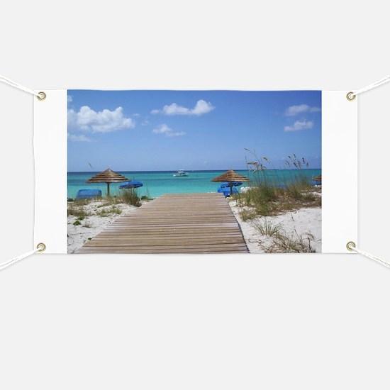 Caribbean boardwalk Banner