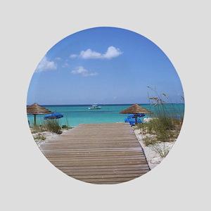 "Caribbean boardwalk 3.5"" Button"