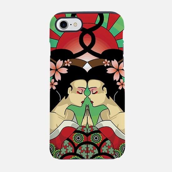 Japanese Geisha Mandala Closeu iPhone 7 Tough Case