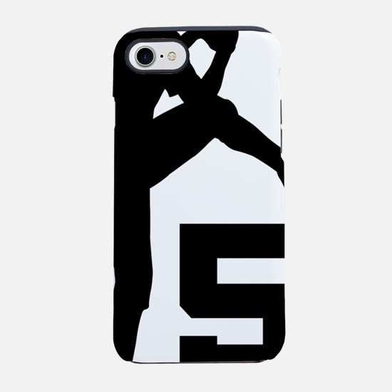 5 Pitcher Silhouette.png iPhone 7 Tough Case