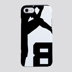 8 Pitcher Silhouette iPhone 7 Tough Case