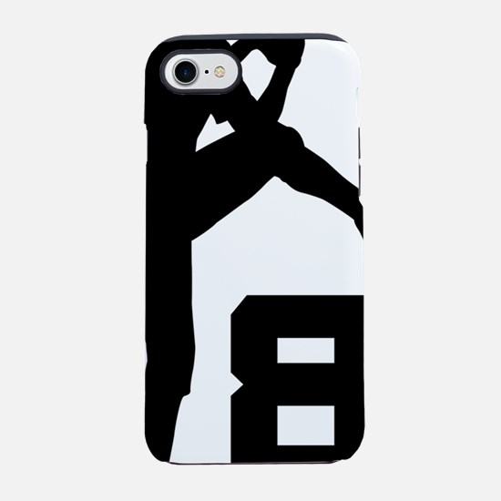 8 Pitcher Silhouette.png iPhone 7 Tough Case