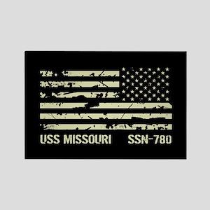 USS Missouri Rectangle Magnet