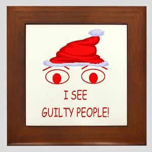 Christmas Cop Framed Tile