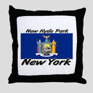 New Hyde Park New York Throw Pillow
