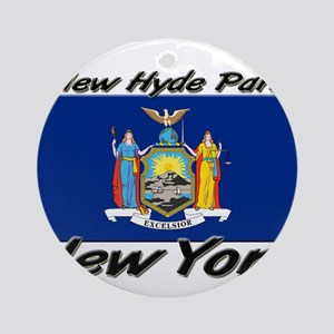 New Hyde Park New York Ornament (Round)