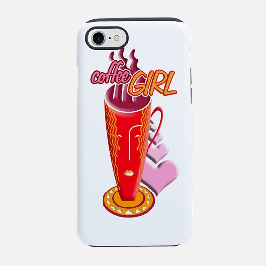 CoffeeGirl.png iPhone 7 Tough Case