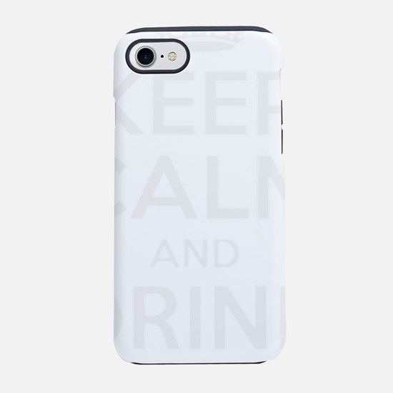 Keep Calm And Drink Wine iPhone 7 Tough Case
