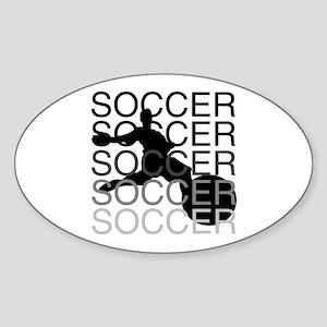 SOCCER Oval Sticker