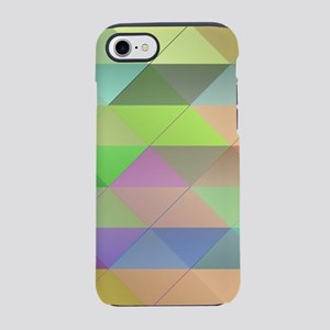 Triangles pattern iPhone 7 Tough Case
