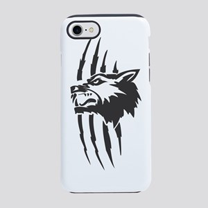 Wolf #3 Black On White iPhone 7 Tough Case