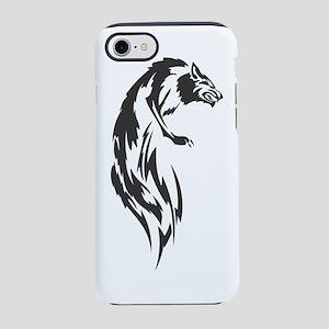 Wolf #8 Black On White iPhone 7 Tough Case