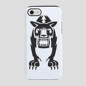 Wolf #36 Black On White iPhone 7 Tough Case