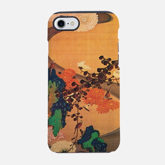 Chrysanthemums by a stream iPhone 7 Tough Case