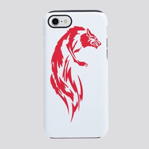 Wolf #8 Red On White iPhone 7 Tough Case