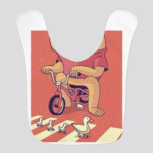 Cyclops Riding A Bicycle Polyester Baby Bib