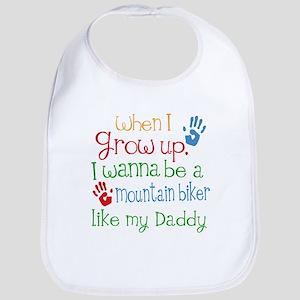 Mountain Biker Like Daddy Baby Bib