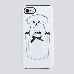 Cute puppy dog in pocket iPhone 7 Tough Case
