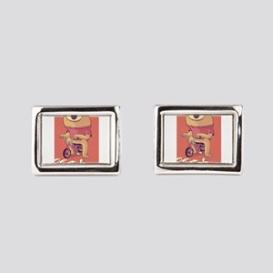 Cyclops Riding A Bicycle Rectangular Cufflinks